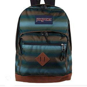 Jansport City View Backpack Laptop Sleeve Striped